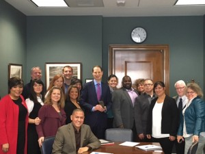 Group with Senator Wyden